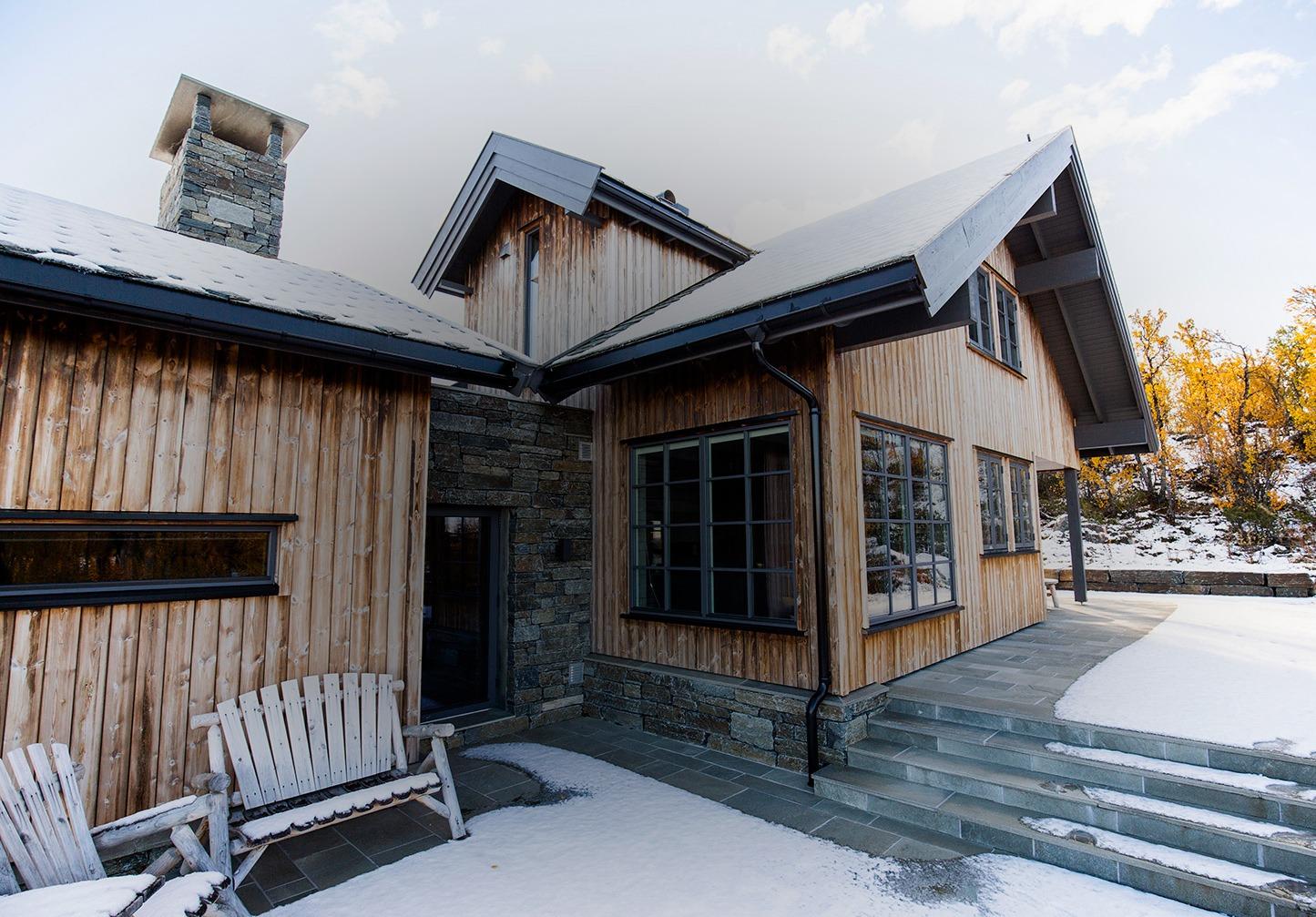 Vinterbilde hytte